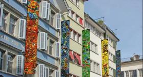Vernissage Chagall-Fahnen